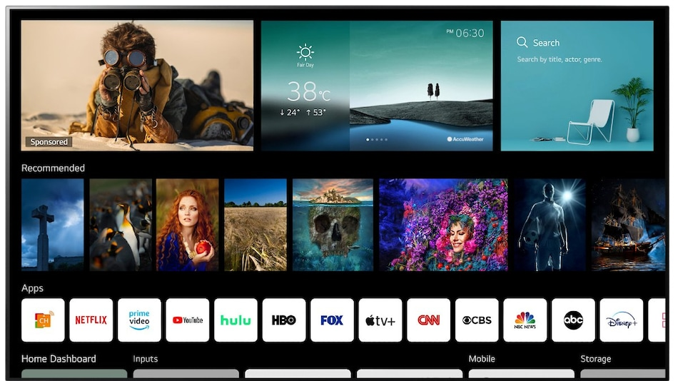 LG webOS 6.0 Introduced for Its 2021 Smart TV Lineup With New UI; Magic Remote Gets NFC Support