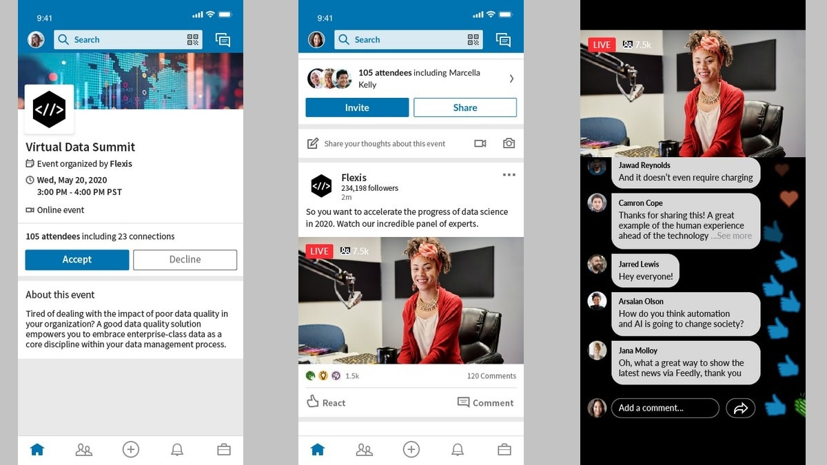 LinkedIn Launches Live Virtual Events Solution by Integrating Events and Live
