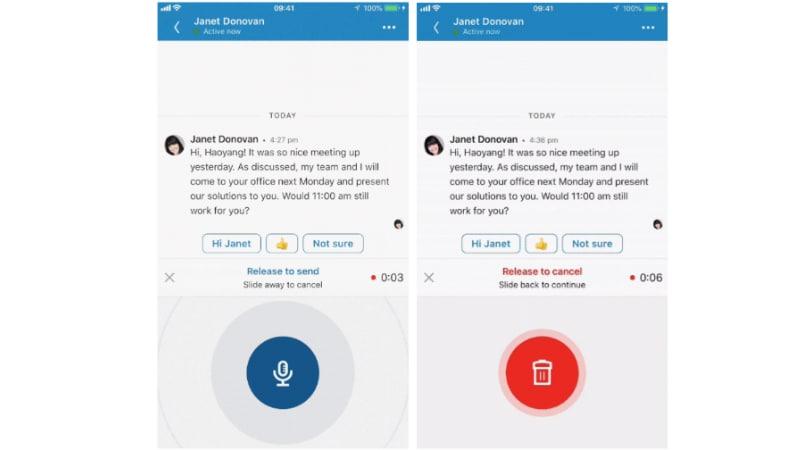 linkedin voice messaging LinkedIn voice messaging