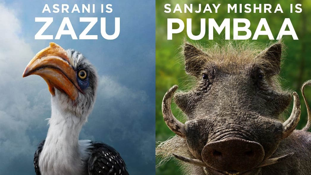 The Lion King Hindi Dub Casts Asrani Sanjay Mishra Shreyas