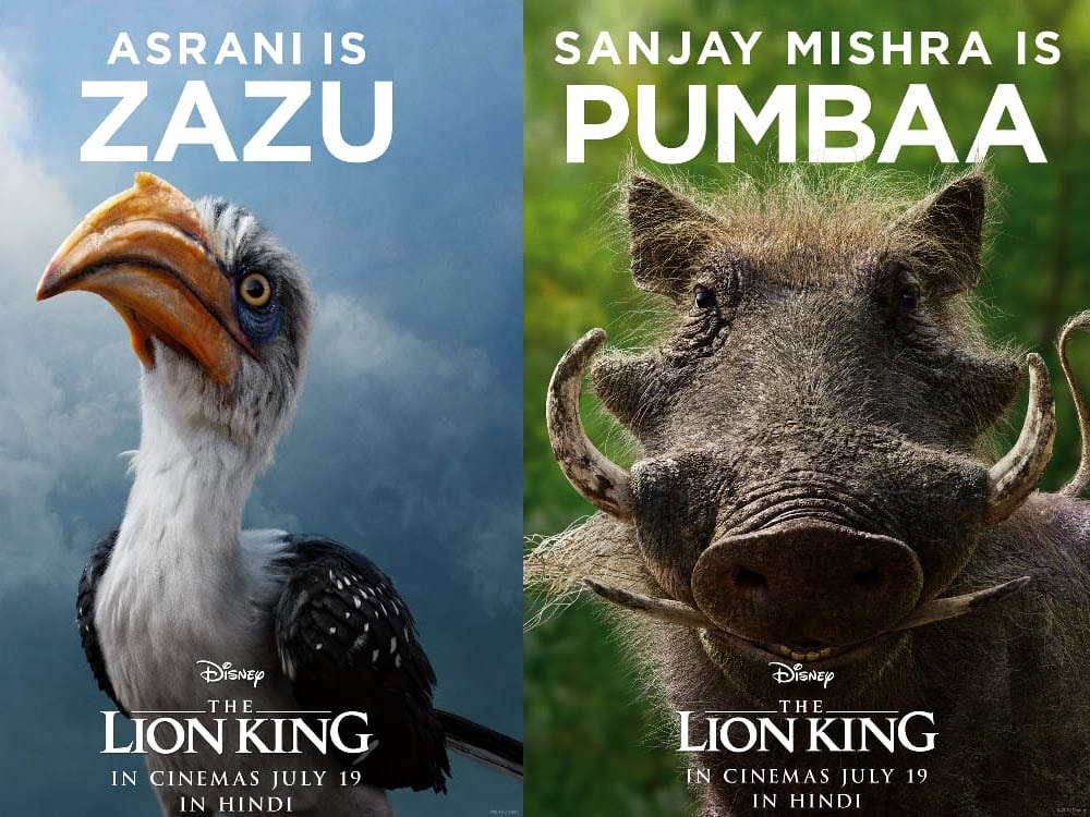 The Lion King Hindi Dub Casts Asrani, Sanjay Mishra, Shreyas Talpade, and Ashish Vidyarthi