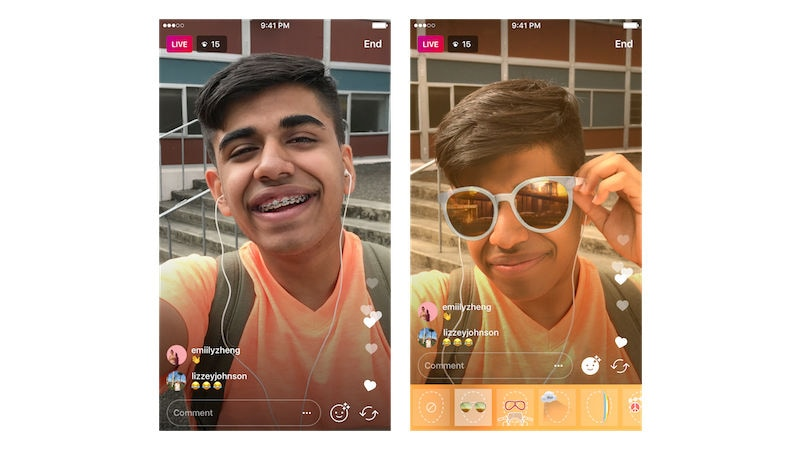 Instagram Now Lets You Use Face Filters While Live Broadcasting