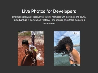 Apple Brings Live Photos to the Web With New LivePhotosKit JavaScript API
