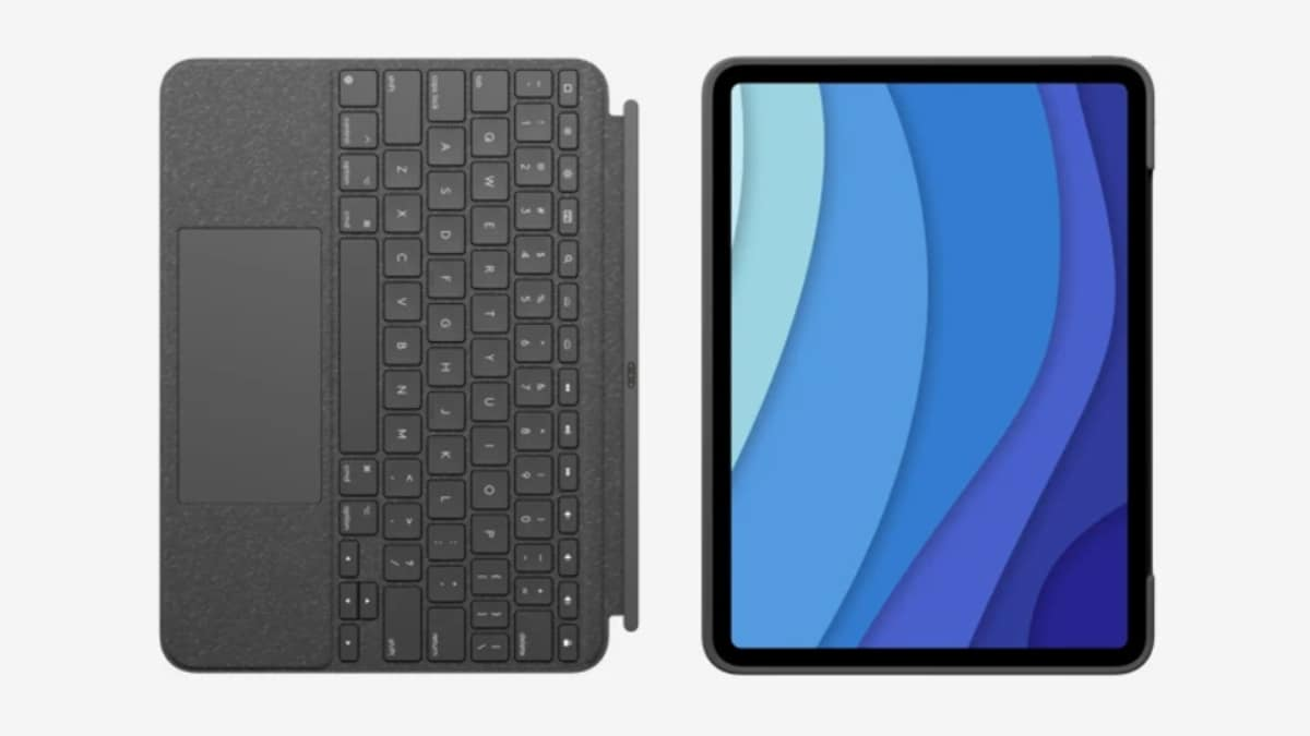 Logitech Combo Backlit Touch Keyboard Case With Trackpad For New Launch Pro