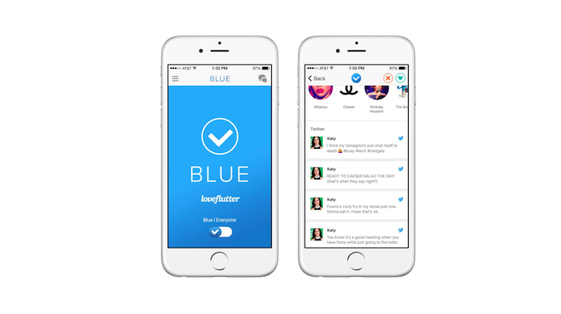 Blue dating app