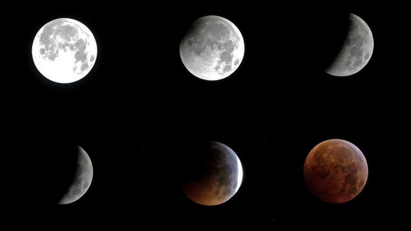 Lunar Eclipse 2019 Super Blood Wolf Full Moon Woos Sky Watchers