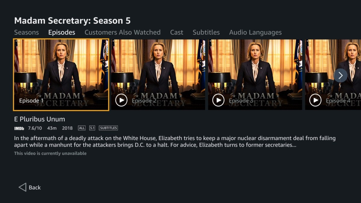 madam secretary prime video Madam Secretary