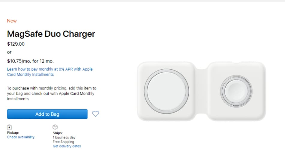 MagSafe Duo Wireless Charger Goes on Sale More Than a Month After Apple Announced It