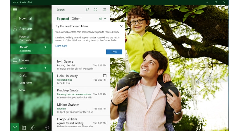 Microsoft Updates Windows 10 Mail, Calendar Apps With Features Like Focused Inbox