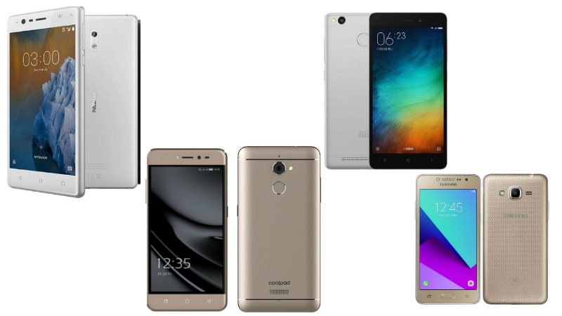 Nokia 3 vs Xiaomi Redmi 3s Prime vs Samsung Galaxy J2 Ace vs Coolpad Note 5: Price, Specifications, Design Compared