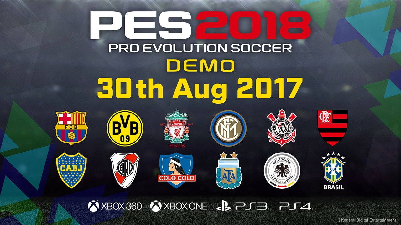 PES 2018 Demo Now Available on PS4, PS3, Xbox One, and Xbox 360