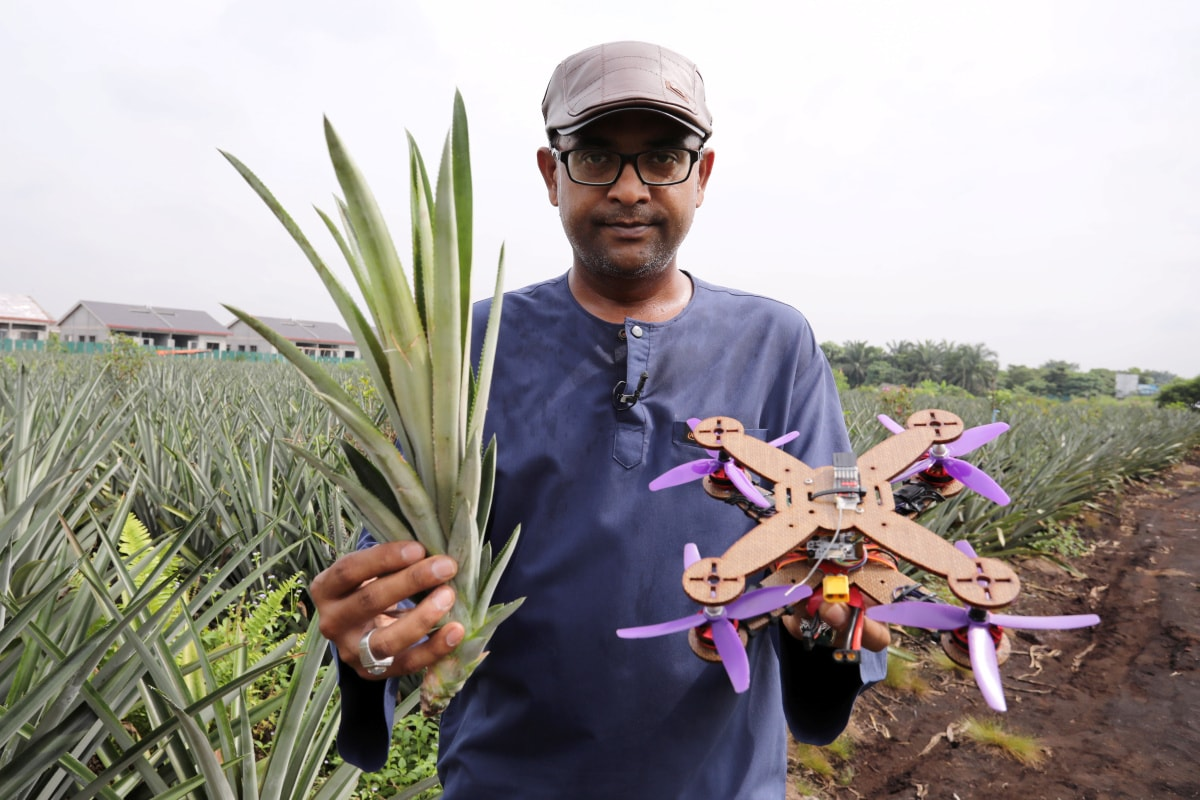 Malaysian Team Turns Pineapple Waste Into Disposable Drone Parts