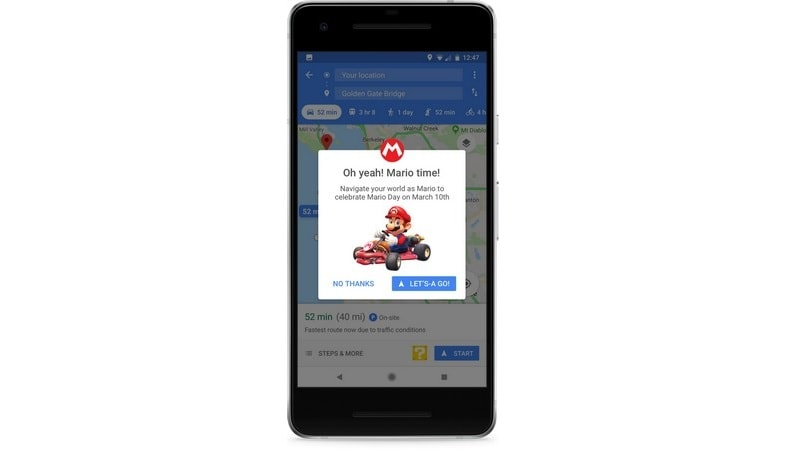 Mario comes to Google Maps