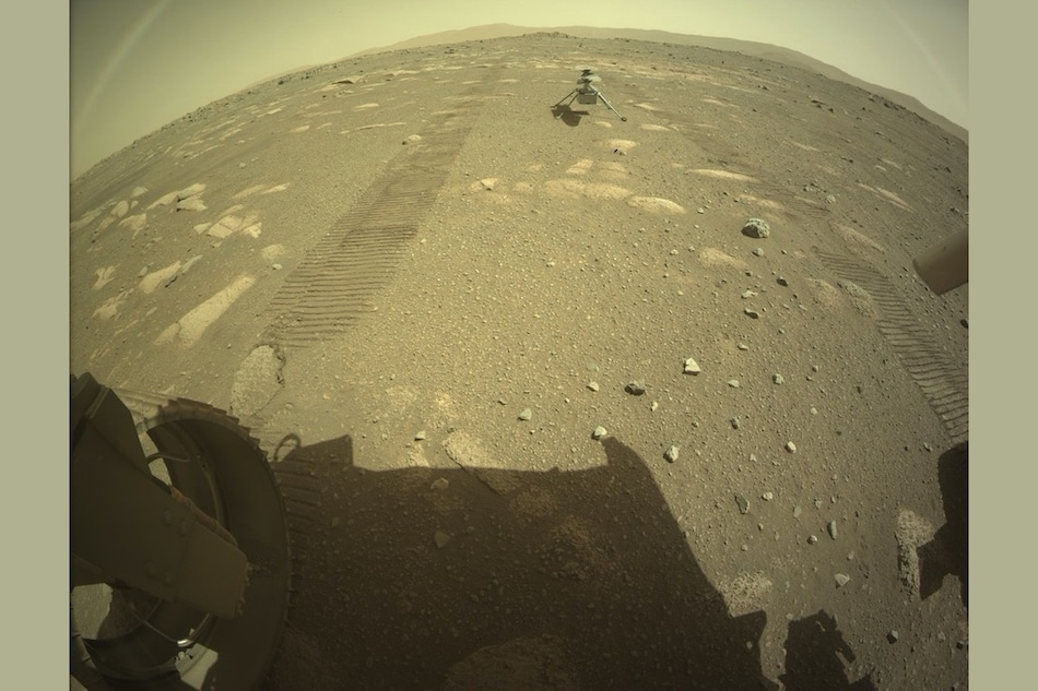 NASA's Mars Ingenuity Helicopter Drops on Surface of Red Planet From Perseverance Rover