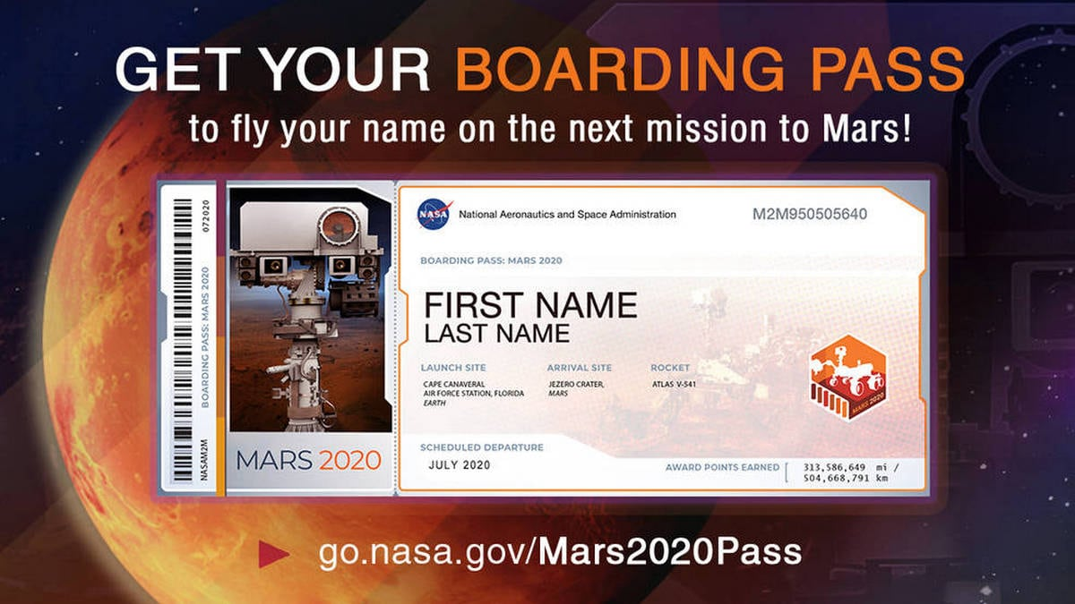 NASA Invites Public to Submit Their Names to Be Displayed on Next Mars Rover
