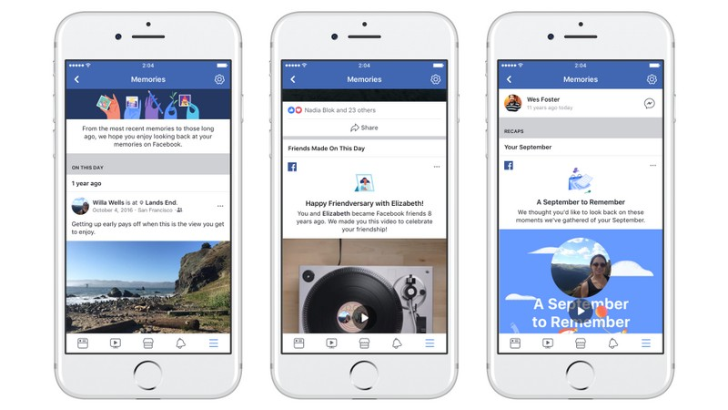 Facebook's Memories is a dedicated spot for nostalgia