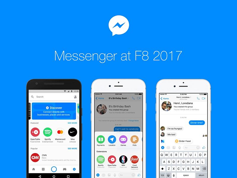 messenger f8 facebook