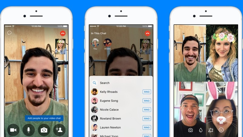 Facebook Messenger now lets you add friends to ongoing video chats