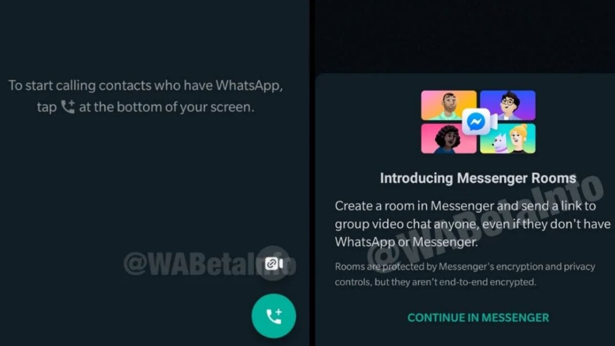 messengerrooms shortcut whatsapp wabetainfo whatsapp