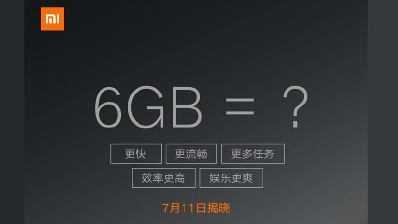 Xiaomi Mi 6 Plus With 6GB RAM Expected to Launch on Tuesday