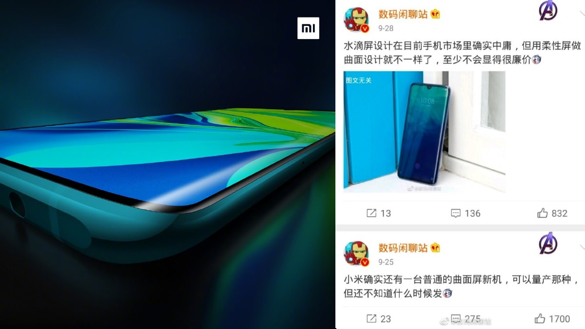 Mi CC9 Pro Official Render Shows Curved Display, Video Teaser Highlights Zooming Capabilities