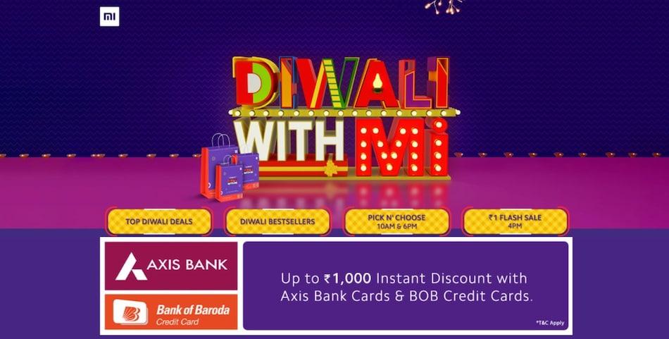 Xiaomi की 'Diwali With Mi' सेल शुरू, मोबाइल पर पाएं 5,000 रुपये तक की छूट