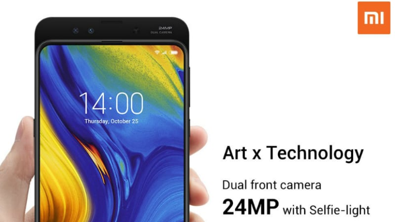 Xiaomi Mi Mix 3 to Get Dual 24-Megapixel Selfie Cameras, Company Confirms