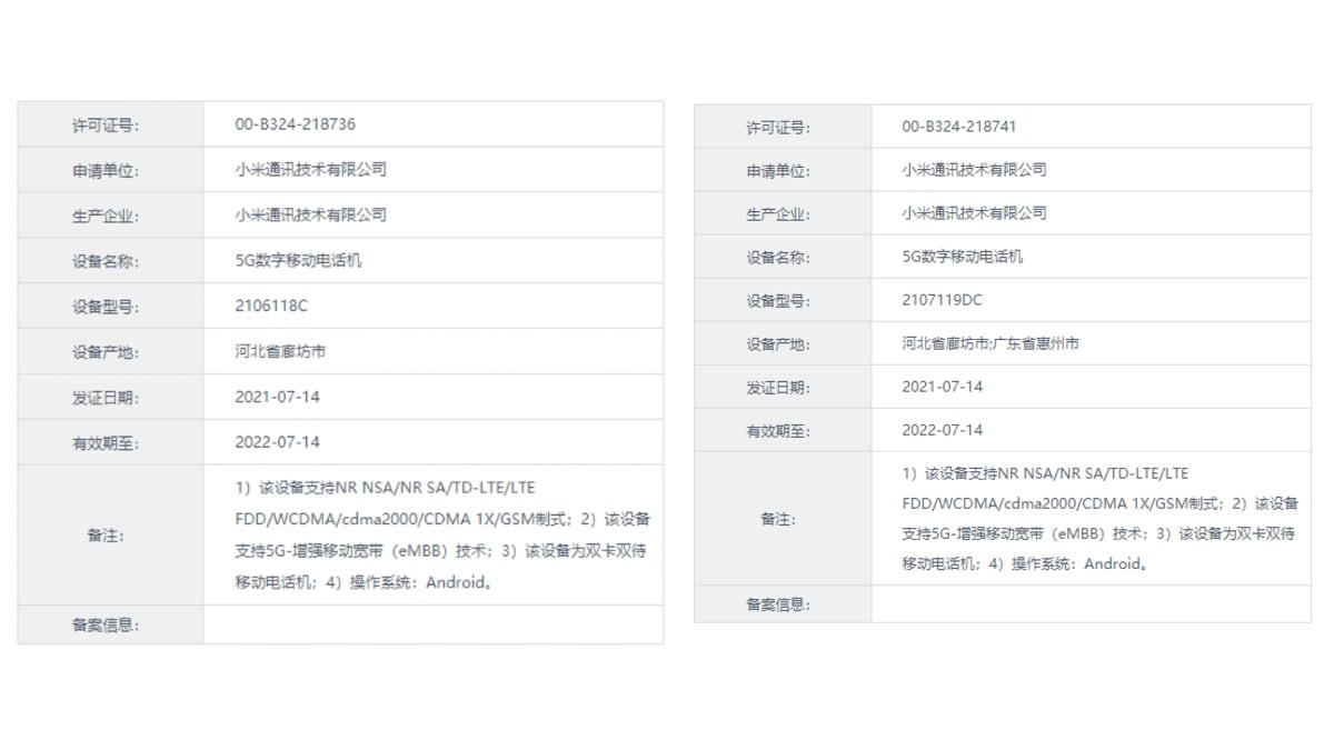 Mi Mix 4, Mi CC 11 Specifications Tipped via TENAA, Mi Pad 5 Poster Leaks