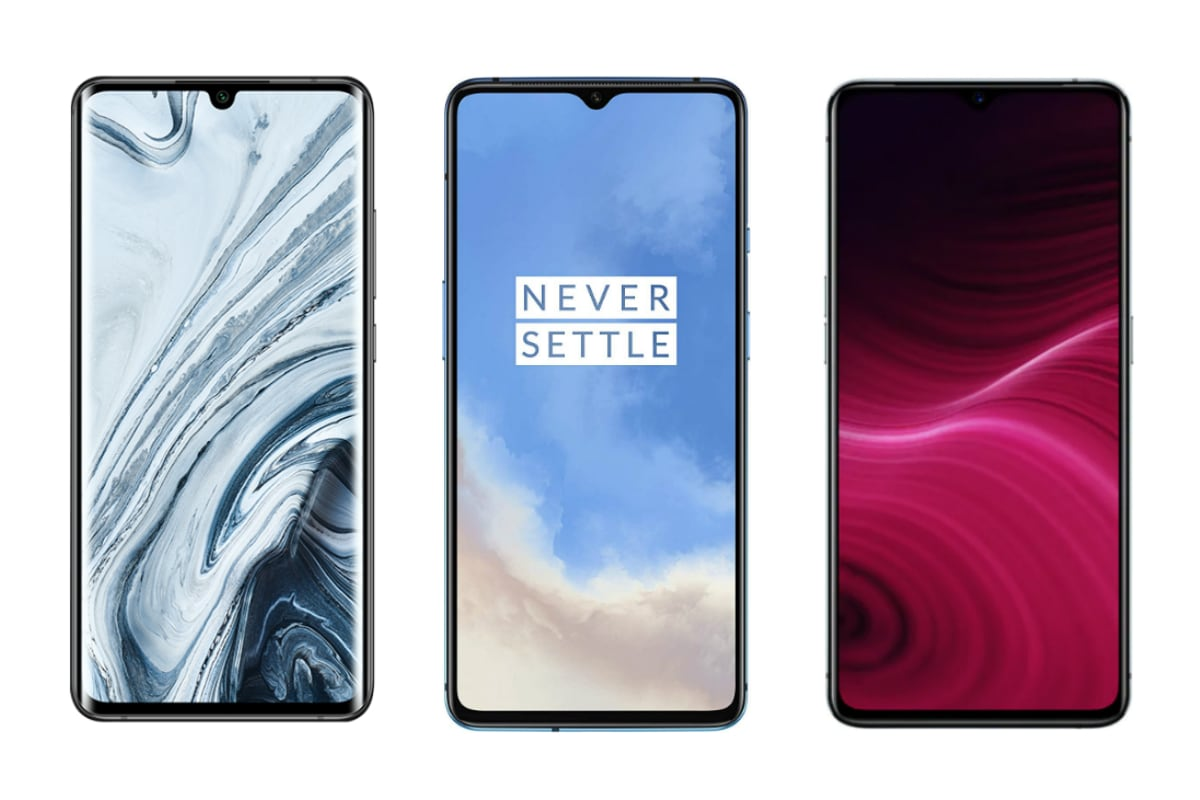 Mi Note 10 vs OnePlus 7T vs Realme X2 Pro: Price, Specifications Compared