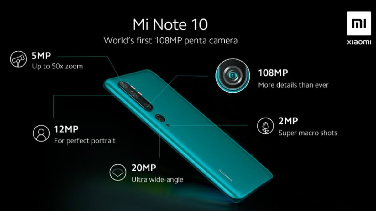 Mi Note 10 Launching on November 6, Penta Camera Setup Detailed