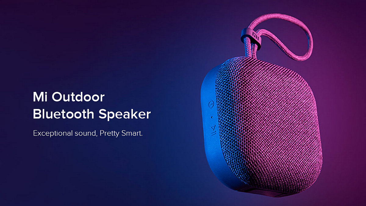 Xiaomi Mi Outdoor Bluetooth Speaker With 20-Hour Battery Life, IPX5 Water Resistance Launched in India