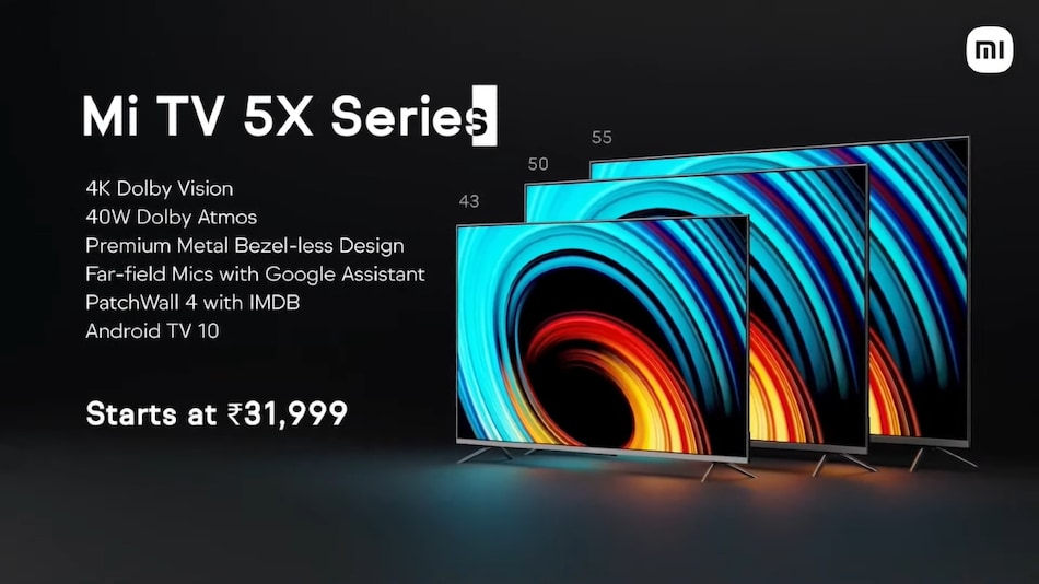 Mi TV 5X Range With Adaptive Brightness, PatchWall 4 Interface Launched in India: Price, Specifications