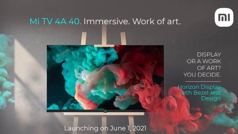 Mi TV 4A 40 Horizon Edition भारत में 1 जून को होगा लॉन्च, जानें क्या होंगी इसकी खासियतें...