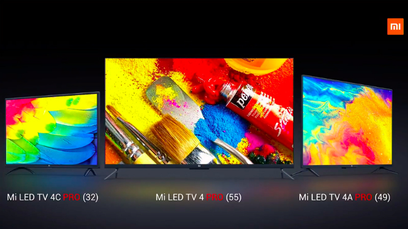 Mi TV 4 Pro 55-Inch, Mi TV 4A Pro 49-Inch, and 4C Pro 32