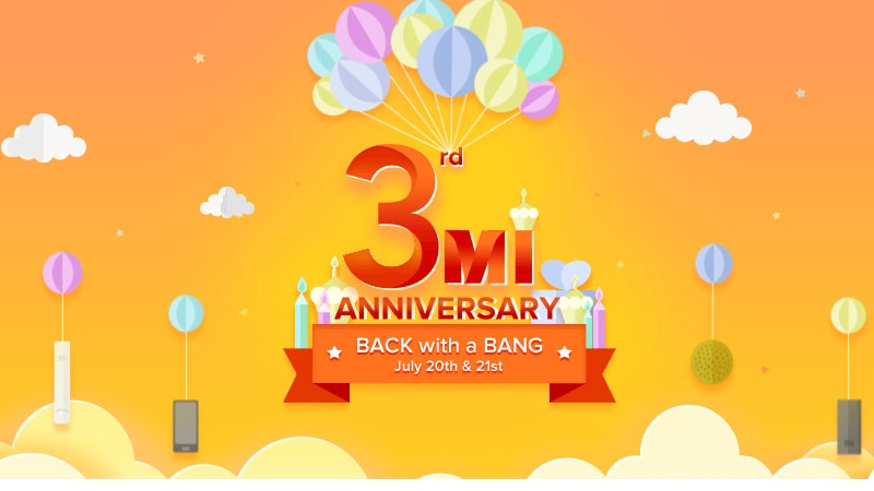 Xiaomi Mi 3rd Anniversary Sale Begins: Redmi Note 4, Redmi 4a at Re. 1, and More Offers