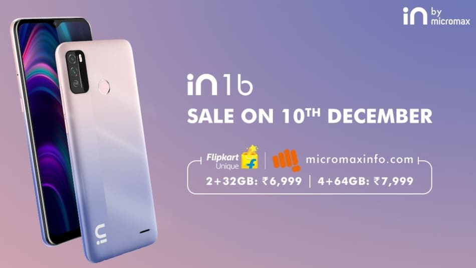 Micromax In 1b to Go on First Sale in India on December 10 via Flipkart, Company Site: Price, Specifications