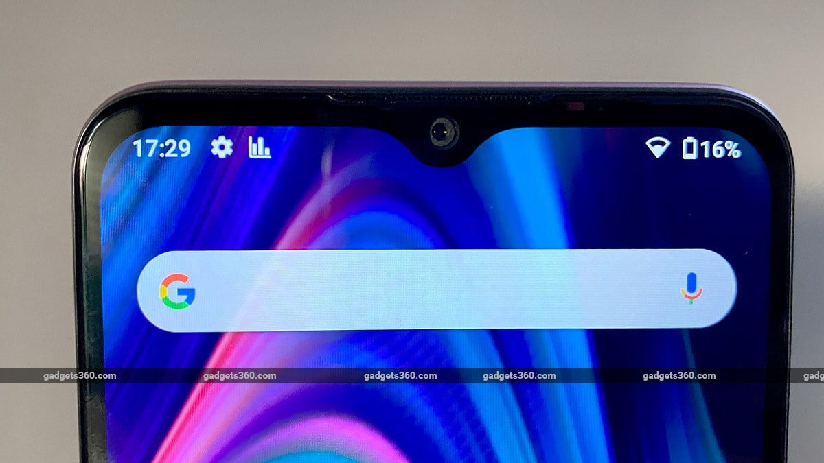 micromax in 1b display notch Micromax In 1B First Impressions