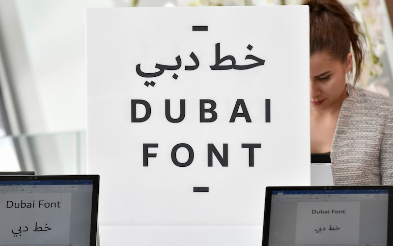 Microsoft Creates 'Dubai Font' Typeface for the City