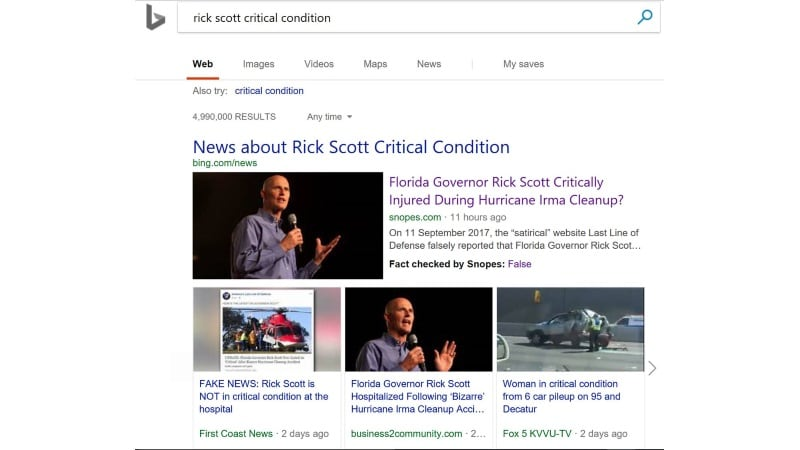 Microsoft Bing Starts Showing Fact Check Labels in Search Results
