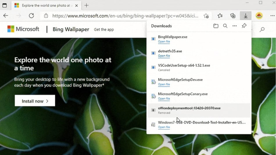 Microsoft Edge Gets a New Downloads Interface With Progress-Tracking Ring on Toolbar