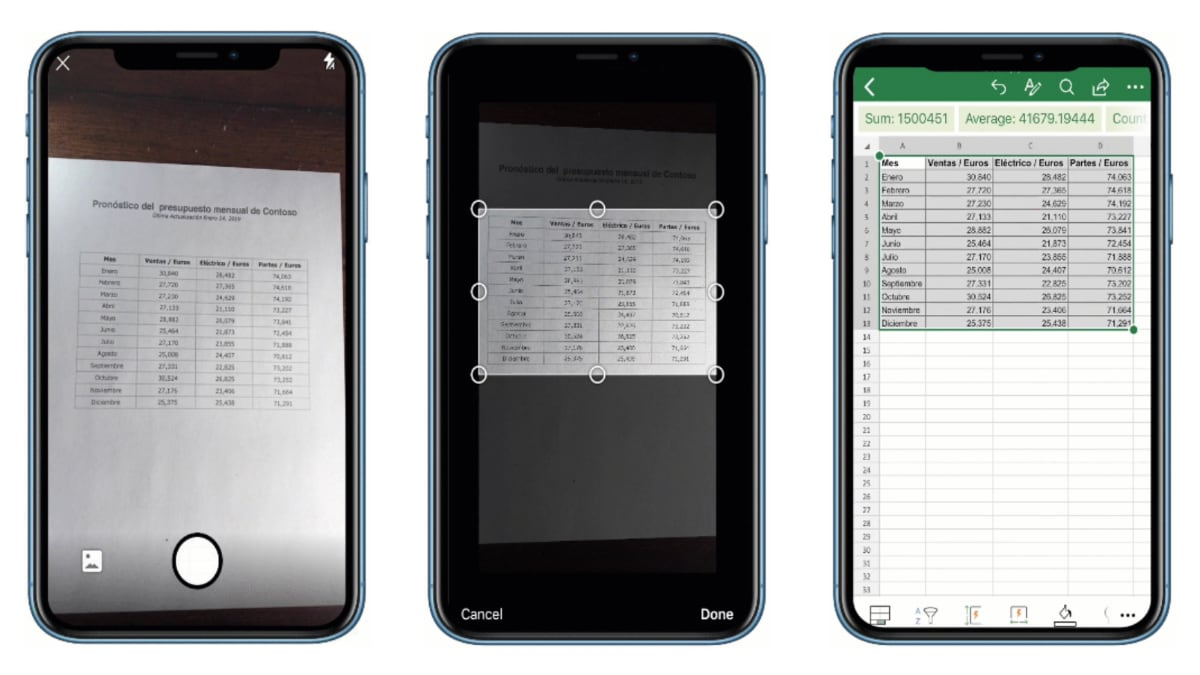 Microsoft's 'Insert Data From Picture' Excel Feature Debuts on iOS Devices