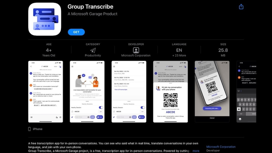 Microsoft Group Transcribe Is a New Garage App That Offers Real-Time Translation for Multiple Users' Chats