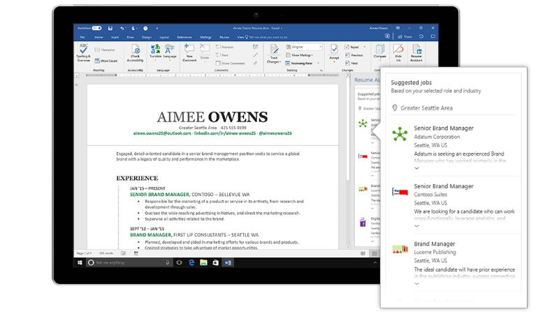 LinkedInPowered Resume Assistant for Office 365 Now Available to