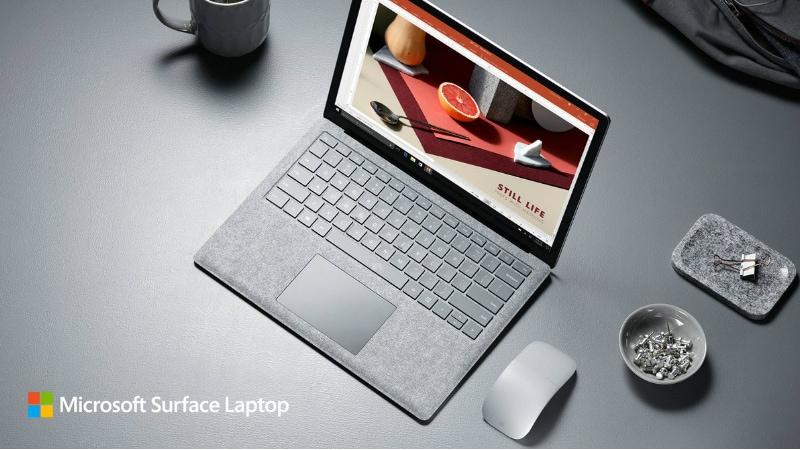 माइक्रोसॉफ्ट सर्फेस लैपटॉप लॉन्च, मैकबुक एयर से बेहतर बैटरी लाइफ मिलने का दावा