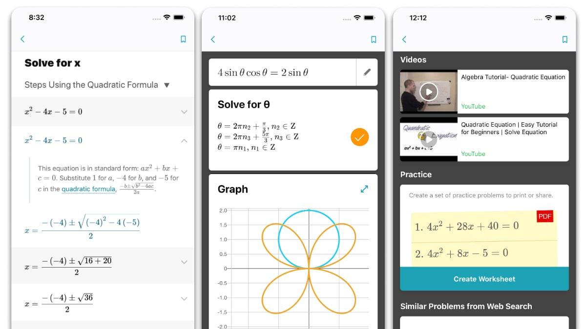 microsoft math solver app screenshots Microsoft Math Solver