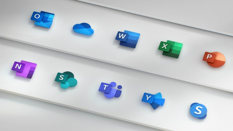Microsoft's new Office logos are a attractive glimpse of the future