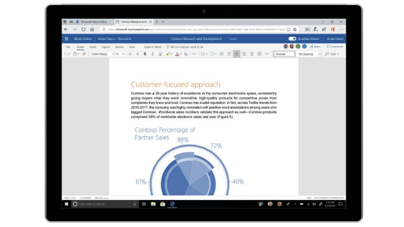 Microsoft Office 365 Gets Simplified Ribbon, New Colours