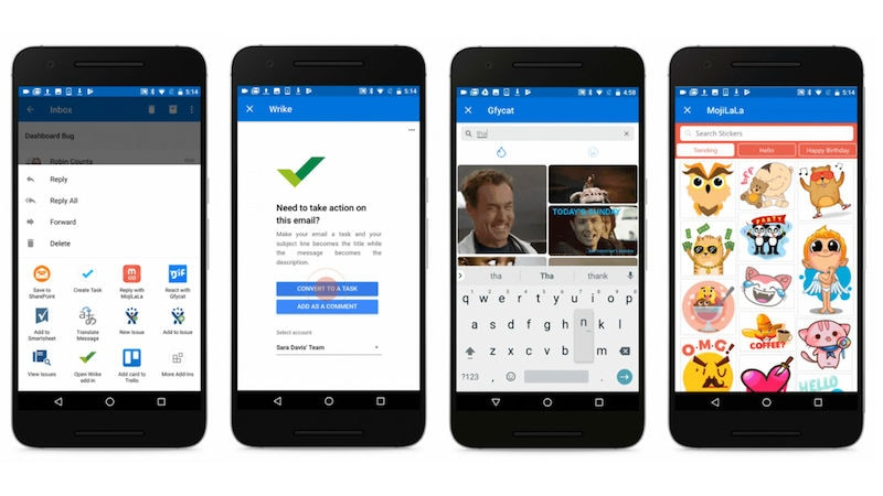 Microsoft Outlook for Android Gets Add-Ins Support
