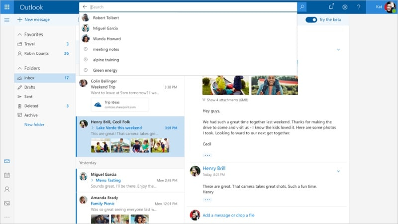 Microsoft Outlook.com Beta Unveiled With Improved Search, Quick Suggestions, and More