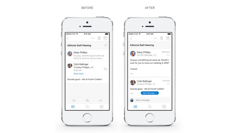 Microsoft Outlook for Android, iOS Gets Redesigned Navigation and Conversations